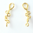 24K Gold Plated Sterling silver 24mm Bail With 6 Loops